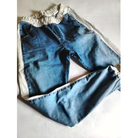 Calça Jeans Feminina Faixa Lateral Moletom