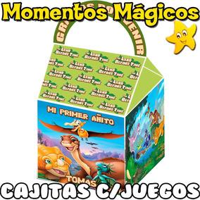 10 Cajitas Feliz Dinosaurios Valijita Golosinera + 7 Juegos