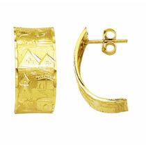 Brinco De Ouro 18k Escrava Desenhos Perfeitos Egito 11mm