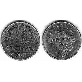 M5- Mega Lote Com 129 Moedas De 10 Cruzeiros Década De 80