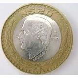 Moneda 20 Nuevos Pesos Hidalgo 1993 Centro De Plata