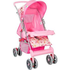 Carrinho De Bebê Reversível Magni Rosa Princesa
