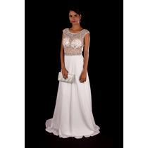 Vestido Com Pedraria/casamento/noivado/civil/trash The Dress