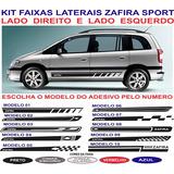 Acessorios Faixa Lateral Zafira Sport Gm Chevrolet Adesivo