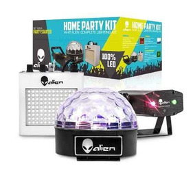 Paquete Pack Fiesta Luz Led Dj Disco Laser Alien