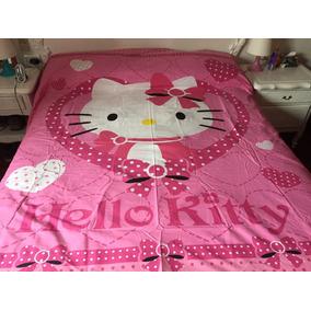 Cubre Edredon /cubre Acolchado Importado Hello Kitty Queen