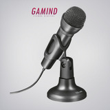 Microfono Karaoke Trust Ziva + Pie Microfono Cable Pedestal