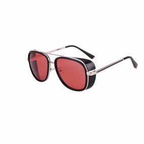 Óculos De Sol Iron Man Homem De Ferro Steampunk Uva E Uvb