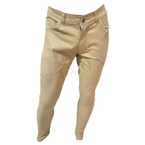 Pack Por 3 Pantalones Jean Chupin Gabrdina Hombre Elastizado