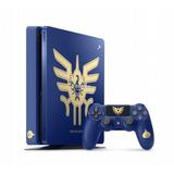 Consola Ps4 Slim Azul 1tb Edicion Dragon Quest Xi Con Juego