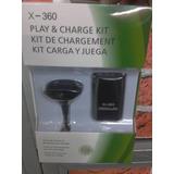 Kit Carga Y Juega Xbox 360, Batería 4800mah Y Cable Cargador