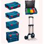 Kit 5 Maletas Bosch L-boxx + Carrinho De Transporte Maquifer
