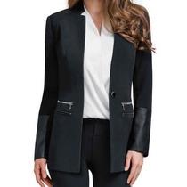 Saco Blazer Super Fashion Con Aplicaciones De Polipiel Dama