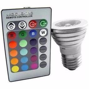 Lampada Led Colorida 16 Cores Rgb 3w Decorativa E27 Controle