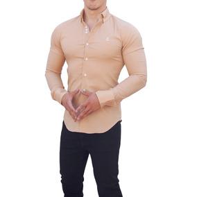 Camisa Beige John Leopard Nueva Slim Fit Envío Gratis