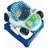 Andador Musical Bebe Infanti Rally Azul Luces Led Evotech