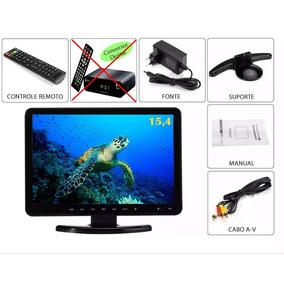 Monitor 15.4 Pol. Com Dvd Player Sd Usb Multi Uso Som Hi-fi