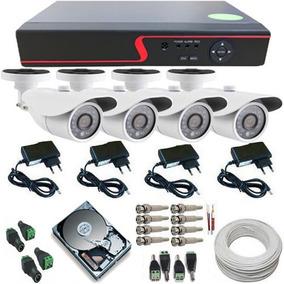 Kit 4 Câmeras Ahd 1.3 Mp Infravermelho Dvr Multi Hd 8 Canais