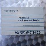 Manual Del Propietario Toyota Yaris/hecho 2003