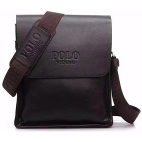 Bolsa Polo Leather Couro Legitimo Ótimo Presente Promoçao