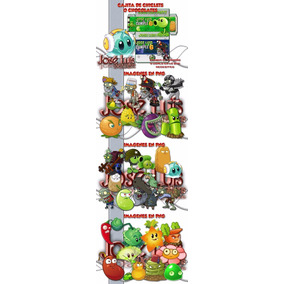 Kit Imprimible Plantas Vs Zombies Invitaciones Nuevo