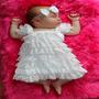 Vestido De Renda Forrado, Pronta Entrega Para Bebé