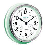 Reloj De Pared Con Medidor De Temperatura Y Humedad Hyw124v