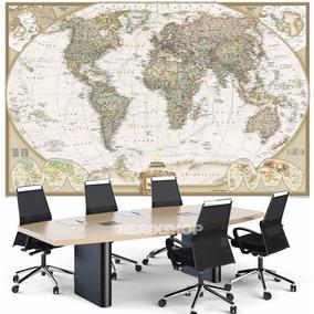 Mapa Mundi Gigante Foto Alta Definicao Em Papel Fotográfico