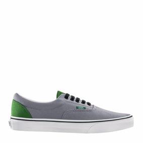 vans gris con verde