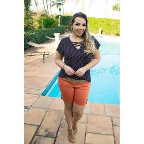 Blusa Poá Bolinhas Plus Size Malha Soltinha Acinturada Verão