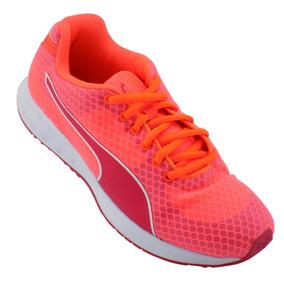 Tenis Puma Burst Running Para Dama Rosas Con Naranja