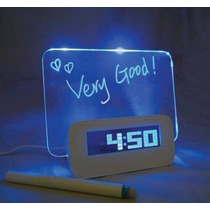 Reloj Despertador Pizarra Led! Divino! Regalo Super Original