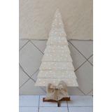 Arbol Pino Navidad Madera Vintage 100 Luces Led Hecho A Mano