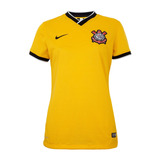 Camisa Nike Corinthians Iii Feminina Torcedor Amarela