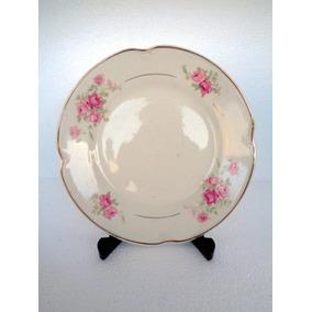 Antiguidade Antigo Prato Raso Porcelana Ceramus Lote 002