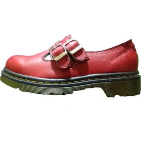 Zapatos Dr Martens Mision F Cuero Rojo