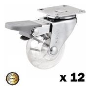 Rodízio Giratório Com Freio 50mm - Com 12 Peças  - Vonder
