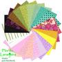 Kit Tecidos Multicolorido Patchwork Algodao Bolsas 25x35cm