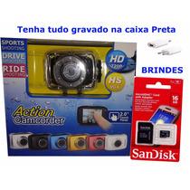 Camera Filmadora Veicular Automotiva Hd 720p + Sd 16gb + Car