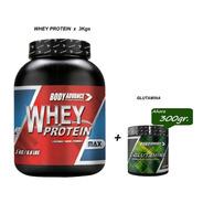 Whey Protein 3 Kg ( Proteína Pura ) + L - Glutamina 200 Gr. Body Advance