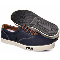 Tênis Polo Sneaker Masculino Azul Marinho E Preto