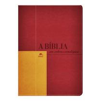 Bíblia De Estudo Em Ordem Cronológica Luxo Vermelho E Mostar