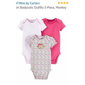 Set Body Mono Child Of Mine By Carters Baby Girl Niña 5 Pzas