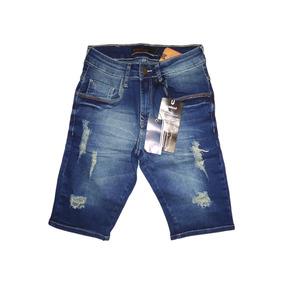 Bermuda Jeans Masculina Original Várias Marcas Slim Fit Top