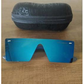 Óculos Sol Masculino Azul Espelhado Quadrado - Lançamento