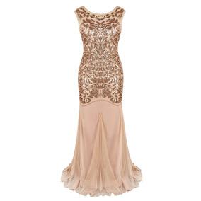 Gatsby Mujer 1920s Rosa Gold 2 Prettyguide Vestido Noche