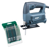 Kit Sierra Caladora Makita Mjv430 450 W + Set 10 Hojas Bosch