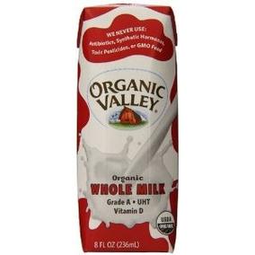 Organic Valley Leche Entera Ultra Pasteurizada 8 Onzas (paqu