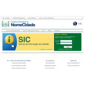 Sistema E-sic - Site Para Prefeituras 2017