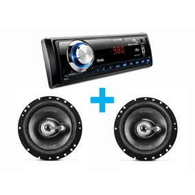 Radio Automotivo Mp3 Wave Fiesta + Bravox Par Falante 6 Tr6u